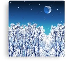 White Woods Snow Canvas Print