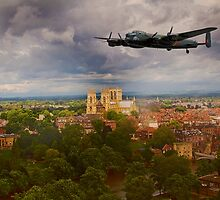 Lancaster Over The Minster by Dave Godden