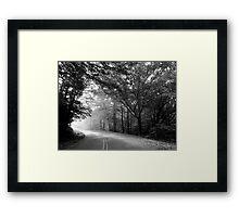 Follow That Road Framed Print