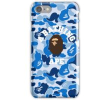 abape blue iPhone Case/Skin