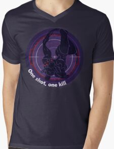 One shot, one kill Mens V-Neck T-Shirt