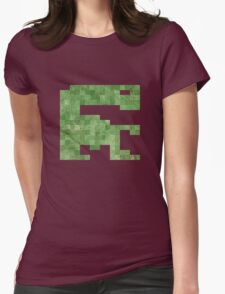 E.T. Vintage Pixels Womens Fitted T-Shirt