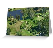 New Zealand - Hobbiton - approaching via helicopter Greeting Card