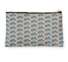 cross stitch  pansies Studio Pouch