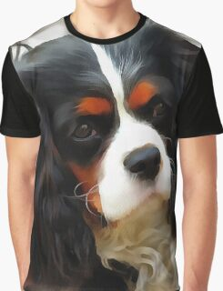 Portrait Of A King Charles Cavalier Spaniel Graphic T-Shirt