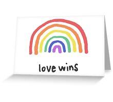 LGBTQA+  PRIDE [Love Wins] Greeting Card