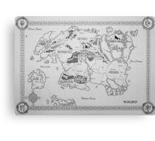Elder Scrolls map in ink Canvas Print