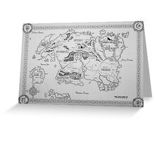 Elder Scrolls map in ink Greeting Card