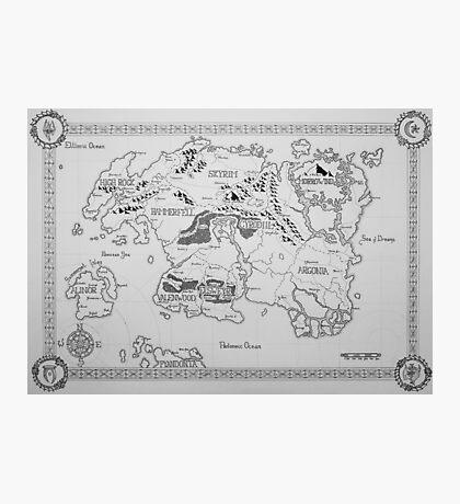 Elder Scrolls map in ink Photographic Print