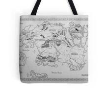 Elder Scrolls map in ink Tote Bag