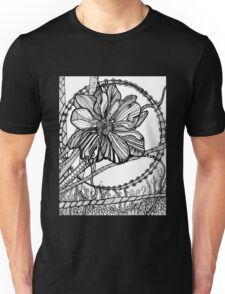 Thimbleweed, Ink Flower Drawing Unisex T-Shirt