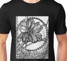 Thimbleweed, Ink Flower Drawing Unisex T-Shirt
