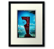 Bow and Arrow Motel  Framed Print