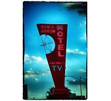 Bow and Arrow Motel  Photographic Print