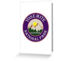 YOSEMITE NATIONAL PARK CALIFORNIA MOUNTAIN MOUNTAINS SUN Greeting Card