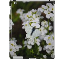 White Butterfly & White Flowers iPad Case/Skin