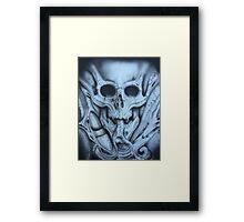 Bio Mech skull Framed Print