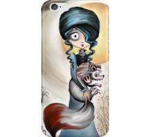 Goth Girl and Silver Fox - Beastly Creatures iPhone Case/Skin