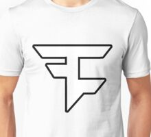 FaZe White Logo - Outline Unisex T-Shirt