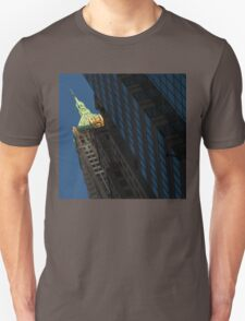 Manhattan Skyscraper Canyons - Early Sunshine in the Financial District Unisex T-Shirt