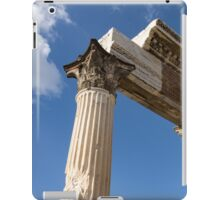 Ancient Pompeii Broken Treasures - A Skyward View of a Classical Corinthian Colonnade iPad Case/Skin