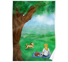 Puppy Picnic Poster