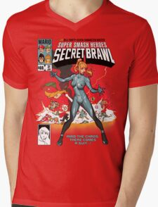 Secret Brawl Mens V-Neck T-Shirt