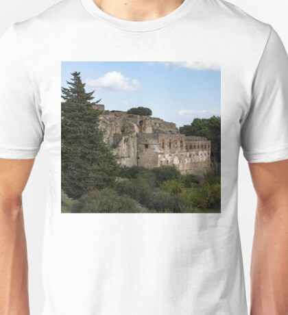 A Peaceful Italian Afternoon - Ancient Pompeii Ruins From a Verdant Park Unisex T-Shirt