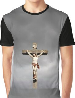 Jesus Christ crucifixion sculpture Graphic T-Shirt