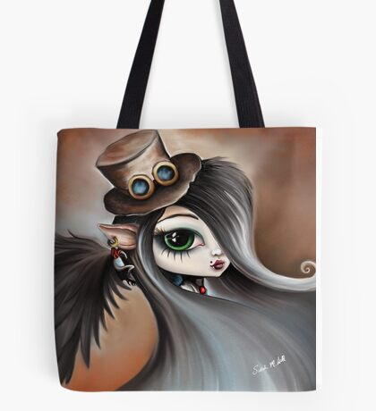 Steampunk Vampire Girl - Dark Angel Tote Bag