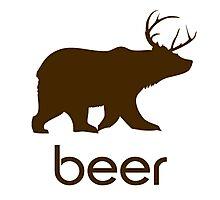 Beer Bear and Deer Coffee Mug Photographic Print