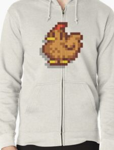 Stardew Valley Chicken Zipped Hoodie