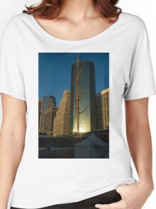 Manhattan Sunrise Reflection Through Masts and Rigging Women's Relaxed Fit T-Shirt