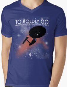 To Boldly Go Mens V-Neck T-Shirt