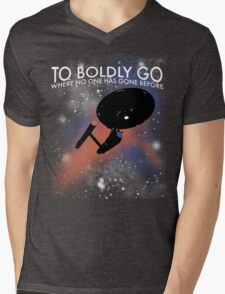 To Boldly Go Mens V-Neck T-Shirt
