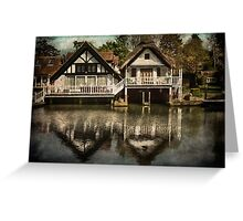 Boathouses at Goring on Thames Greeting Card