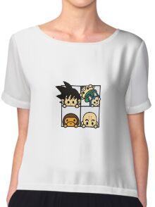 BAPE x Dragon Ball: Goku, Baby Milo, Krillin, Oolong, and Puar Chiffon Top