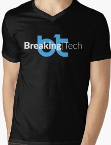 BreakingTech – Blu / Bianco (Nero) Mens V-Neck T-Shirt