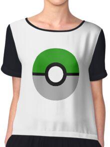 Slytherin Pokeball (Slytherball?) Chiffon Top