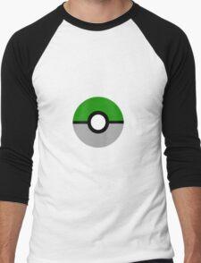 Slytherin Pokeball (Slytherball?) Men's Baseball ¾ T-Shirt
