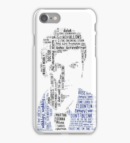 David Tennant as Doctor Who the Time Lord Triumphant  iPhone Case/Skin