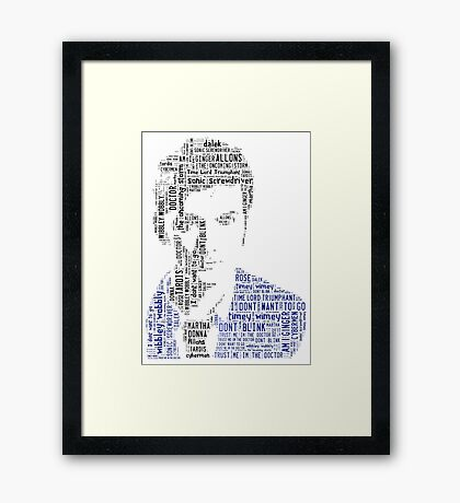 David Tennant as Doctor Who the Time Lord Triumphant  Framed Print