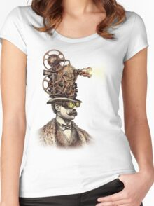 The Projectionist (sepia option) Women's Fitted Scoop T-Shirt