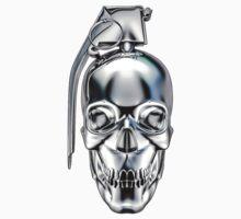 Skull grenade silver Baby Tee