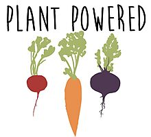 Plant Powered - Vegan Photographic Print