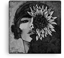 Sunflower Girl Canvas Print