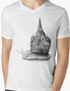 The Snail's Dream (Monochrome) Mens V-Neck T-Shirt