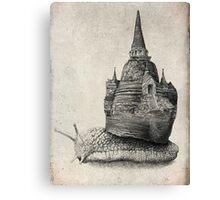The Snail's Dream (Monochrome) Canvas Print
