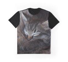 Sleeping Kitten Graphic T-Shirt