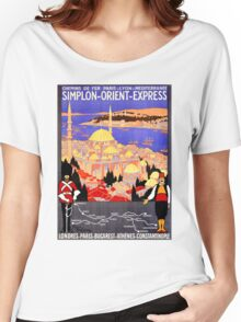 Vintage Simplon Orient Express London Constantinople Women's Relaxed Fit T-Shirt